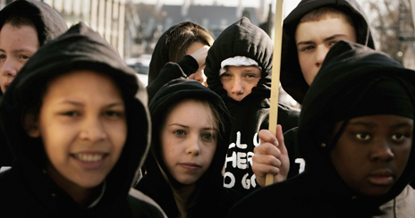 Children in hoodies, 2007