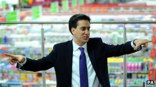 Ed Miliband in Asda, Clapham Junction