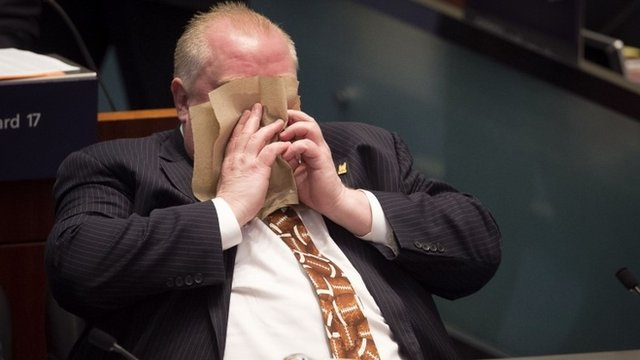 _71133216_71133215 Toronto Mayor Rob Ford runs for re-election