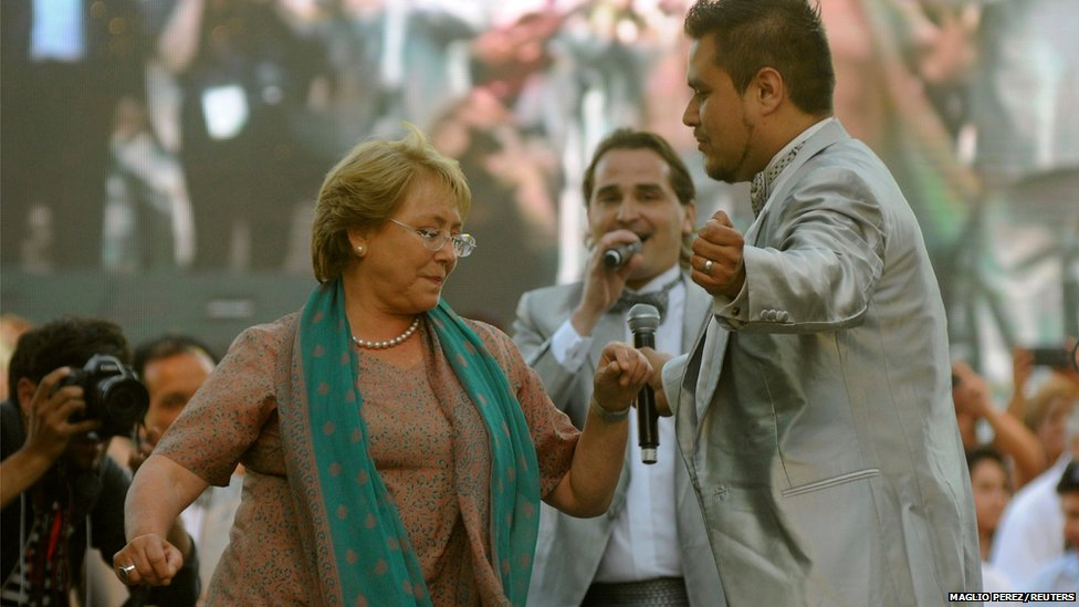 Chilean presidential candidate Michelle Bachelet of Nueva Mayoria