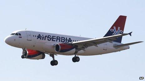 Air Serbia plane