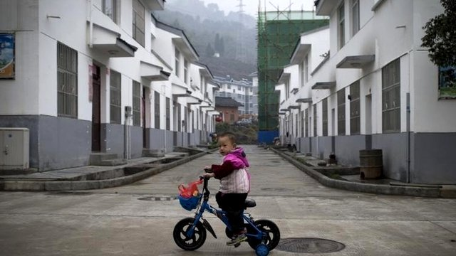 A child on a bike