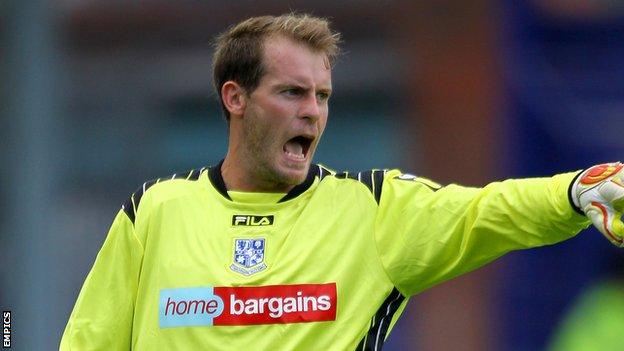 Tranmere Rovers goalkeeper Owain Fon Williams