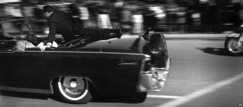 JFK's limousine just after the shooting