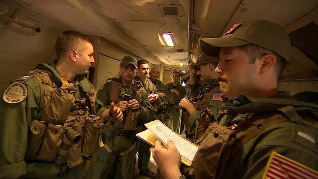 US crew aboard surveillance aircraft