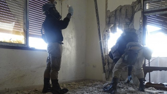 UN weapons inspectors in Syria