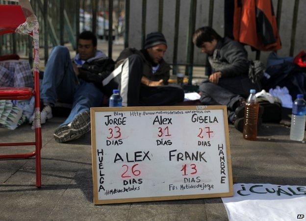 Hunger strikers in Madrid, 13 November