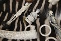 A collection of ivory objects.