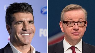 Simon Cowell and Michael Gove