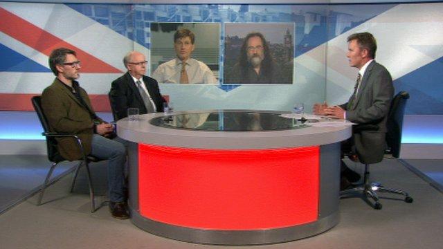 Robin McAlpine, Prof John Struthers, Ben Thomson, Prof Mike Danson and Bill Whiteford