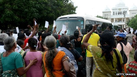 Tamil protesters