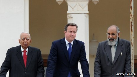 David Cameron and Tamil leaders