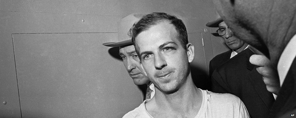 Lee Harvey Oswald under arrest