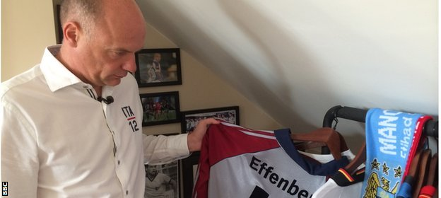 Rosler with Stefan Effenburg's shirt