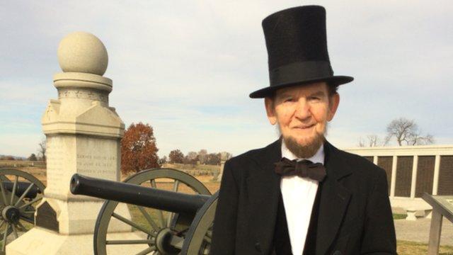 Jim Getty as Abraham Lincoln