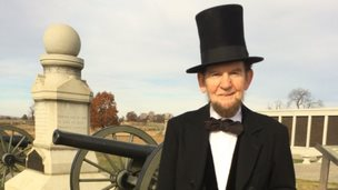 Jim Getty as Abraham Lincoln