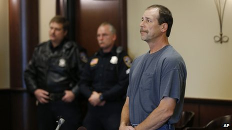 Theodore Wafer was arraigned in 20th District Court in Dearborn Heights, Michigan on 15 November 2013  Friday, Nov. 15, 2013. Wafer faces second-degree murder and manslaughter charges in the death of 19-year-old Renisha McBride. (AP