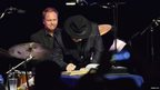Van Morrison signs scroll