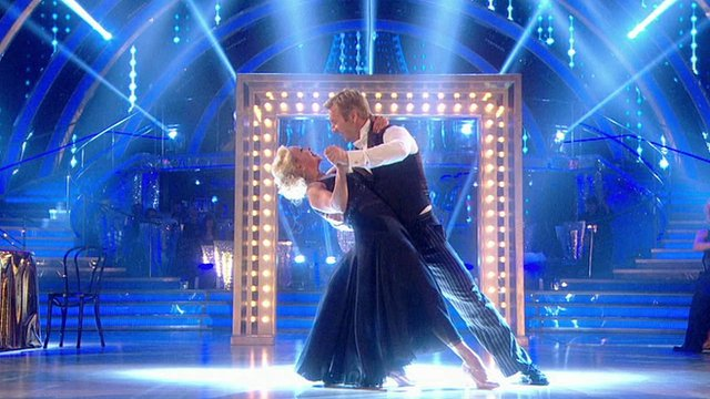 Jane Torvill and Christopher Dean take to the dance floor in a special Children in Need version of Strictly
