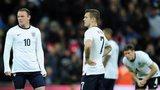 England's Wayne Rooney and Jack Wilshere