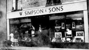 Simpsons Toy Shop, Stowmarket circa 1920