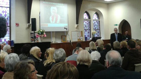 The memorial service for Susan May
