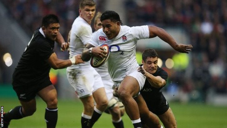 Manu Tuilagi breaks free in 2012