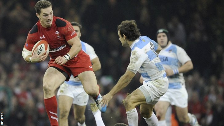 George North bursts through Argentina's defence