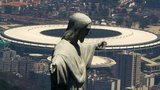 Rio's statue of Christ the Redeemer stands in front of World Cup final venue, the Maracana