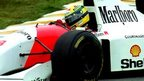 Home hero Ayrton Senna drives for McLaren in the 1993 Brazilian Grand Prix at Interlagos
