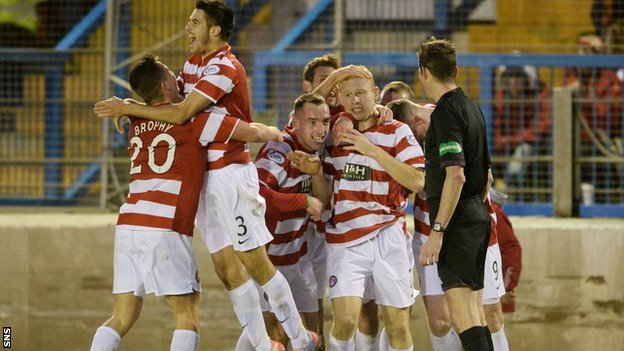 Hamilton celebrate Ziggy Gordon's winner