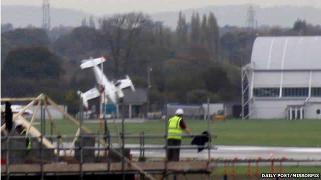 Plane crashes at Hawarden Airport