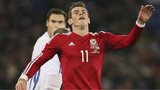 Wales' Gareth Bale reacts in frustration