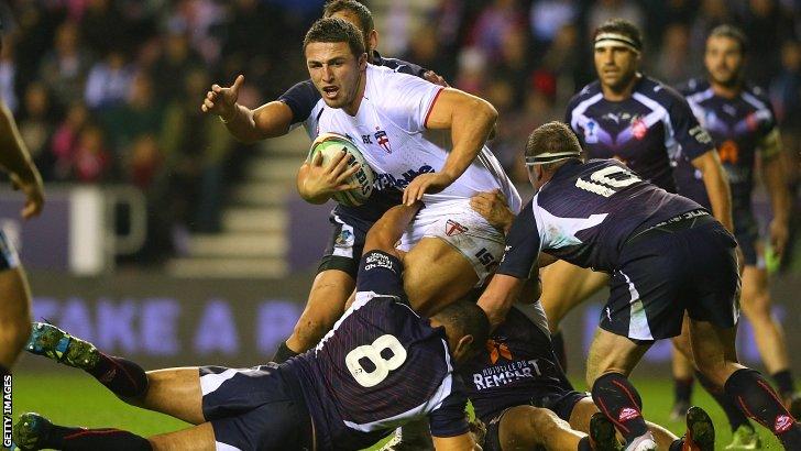 Sam Burgess is tackled