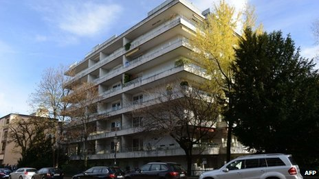 Apartment block in Munich where the art works were found, 15 November 2013