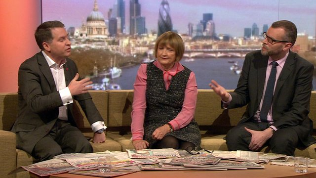 Justin Forsyth, Tessa Jowell and Tim Montgomerie