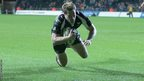 Captain Jonathan Spratt scores a try for the Ospreys in the 21-13 LV=Cup defeat to the Cardiff Blues