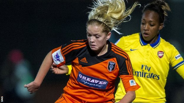 Denise O'Sullivan in action against Arsenal