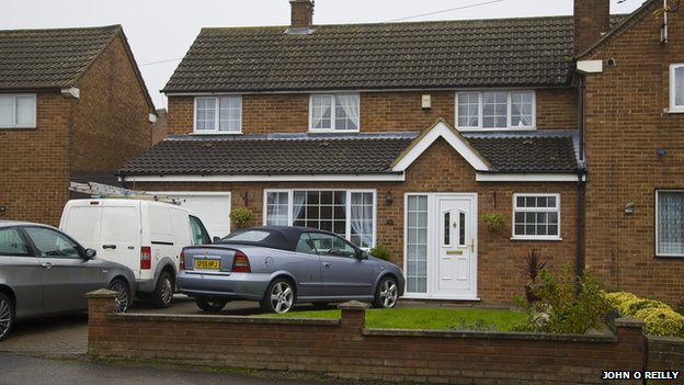 The home where the stabbing took place
