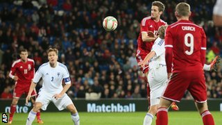 """It was a peach of a cross from Hal Robson-Kanu that saw Andy King score for Wales"""