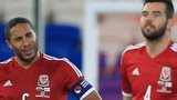 Wales pair Ashley Williams and Joe Ledley show their frustration after conceding a late equaliser to Finland