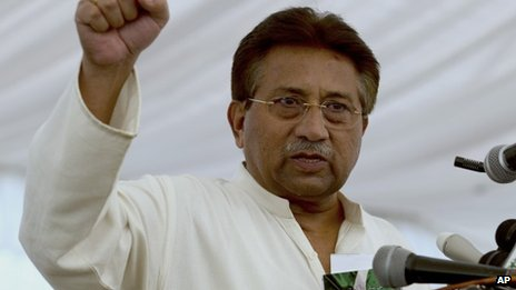 Pervez Musharraf, 15 April 2013
