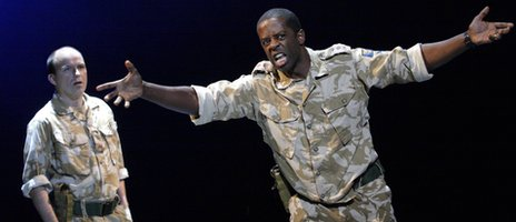 Rory Kinnear and Adrian Lester in Othello