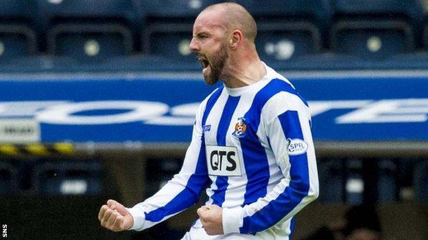 Kris Boyd celebrates for Kilmarnock