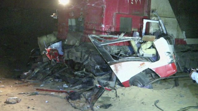 Scene of crash near the village of Dahshur