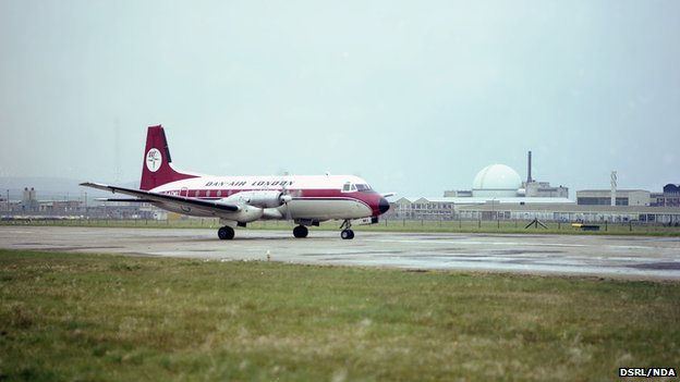 Dan Air flight at Dounreay