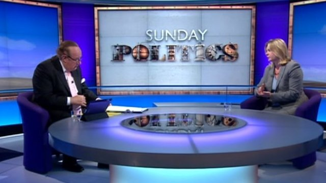Andrew Neil and Justine Greening
