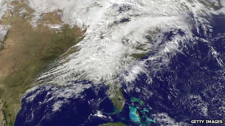 Severe weather as it moves through the Midwest area of the United States on 17 November 2013 in handout image provided by National Oceanic and Atmospheric Administration (NOAA)