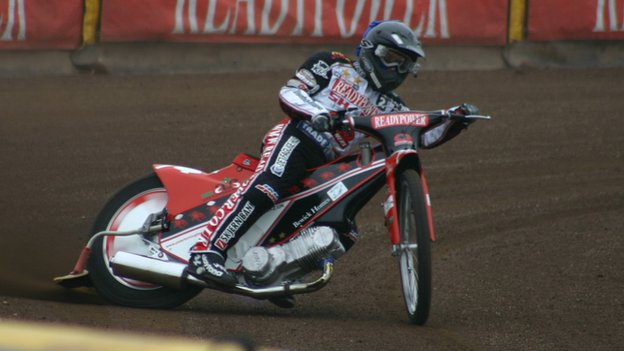 Kenneth Bjerre in action for Peterborough Panthers