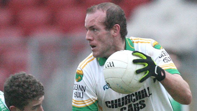 Neil Gallagher in action for Glenswilly against Roslea